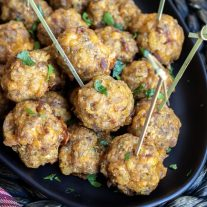 Stuffing Sausage Balls appetizer for New Year's eve