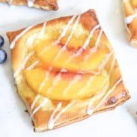 easy brunch dessert Peach Cream Cheese Danish