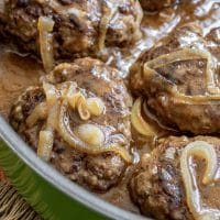 Salisbury Steak in a skillet