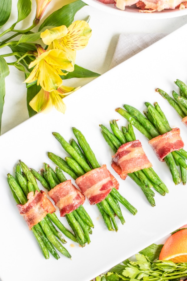 platter of Bacon Wrapped Green Beans
