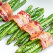 Bacon Wrapped Green Beans bundles