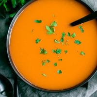 bowl of the best carrot soup