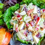 classic Waldorf Salad made with apples and walnuts