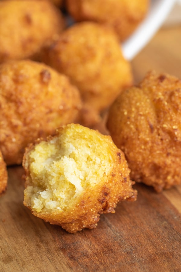 crisp and fluffy Hushpuppies
