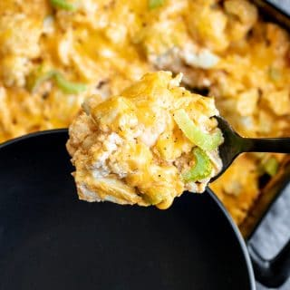 low carb Keto Buffalo Chicken Casserole