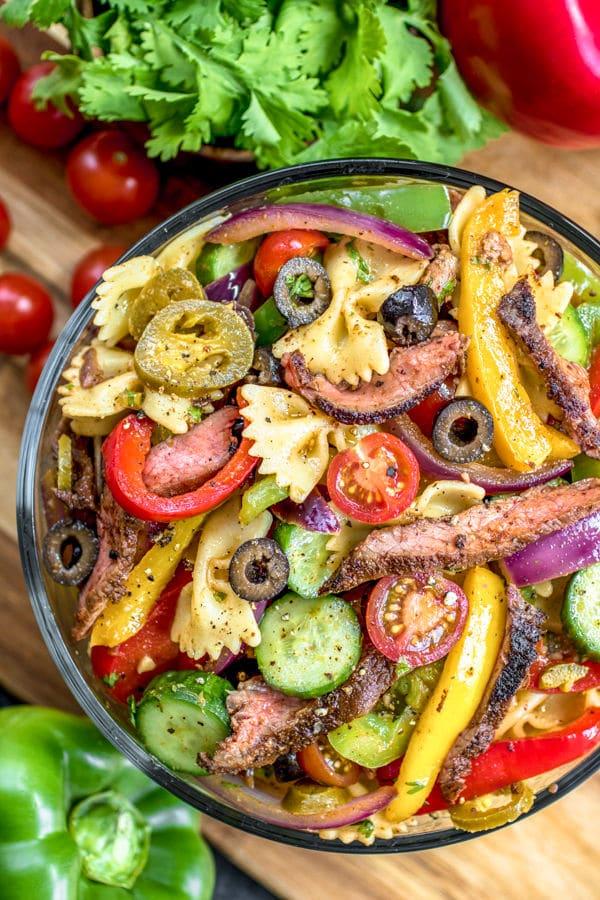 grilled Steak Fajita Pasta Salad
