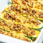 low carb Taco Zucchini Boats