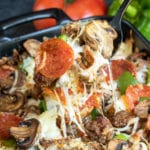 Low Carb Pizza Casserole is the perfect keto dinner for the family