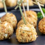easy holiday Crab Ball Appetizer