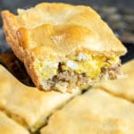 A slice of Sausage and Egg Breakfast Casserole