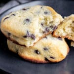 Keto Chocolate Chip Scones made with Lily's sugar free chocolate chips