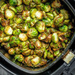 Crispy Air Fryer Brussels Sprouts made in minutes in the air fryer
