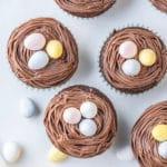 Bird's Nest Easter Cupcakes perfect Easter dessert for kids