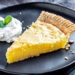 Lemon Chess Pie slice on plate