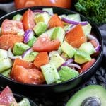 Cucumber Tomato Avocado Salad is a keto salad perfect for summer