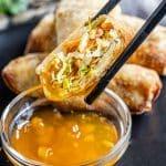 Air Fryer Egg Rolls and duck sauce