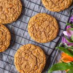 Carrot Cake Mix Cookies on cooling rack