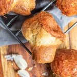 Garlic Parmesan Popovers with garlic butter